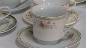 Tea cup on a plate.