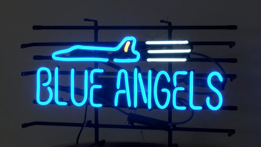 Blue Angels Neon Sign