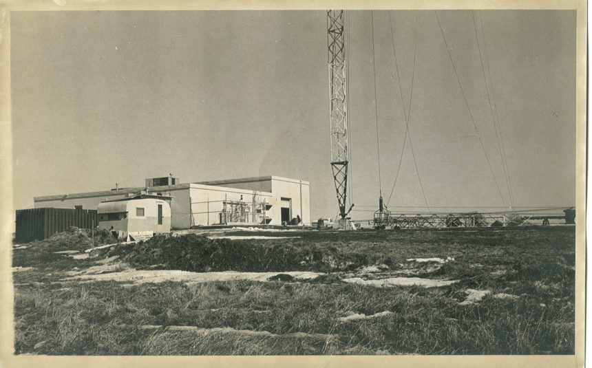 WXOW building and Original tower 1970 looking toward Northea