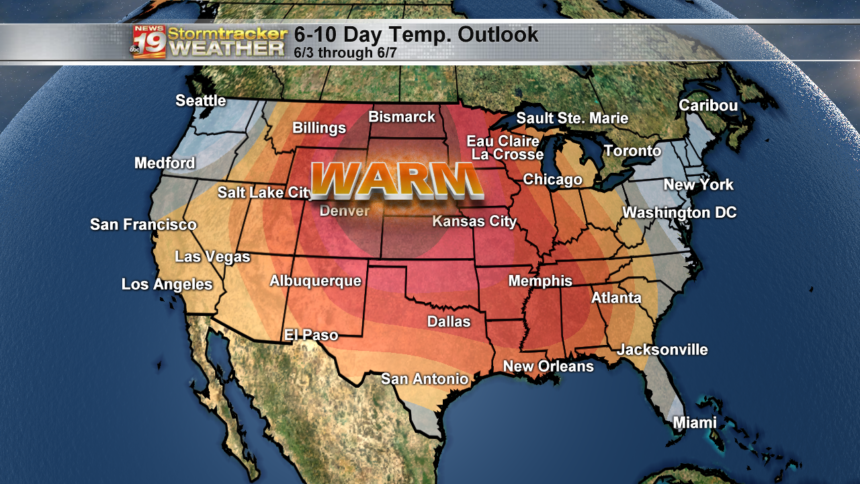 6 to 10 day outlook temps