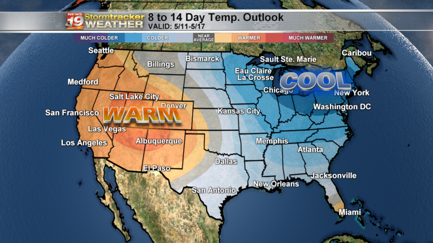 8 to 14 day outlook temps
