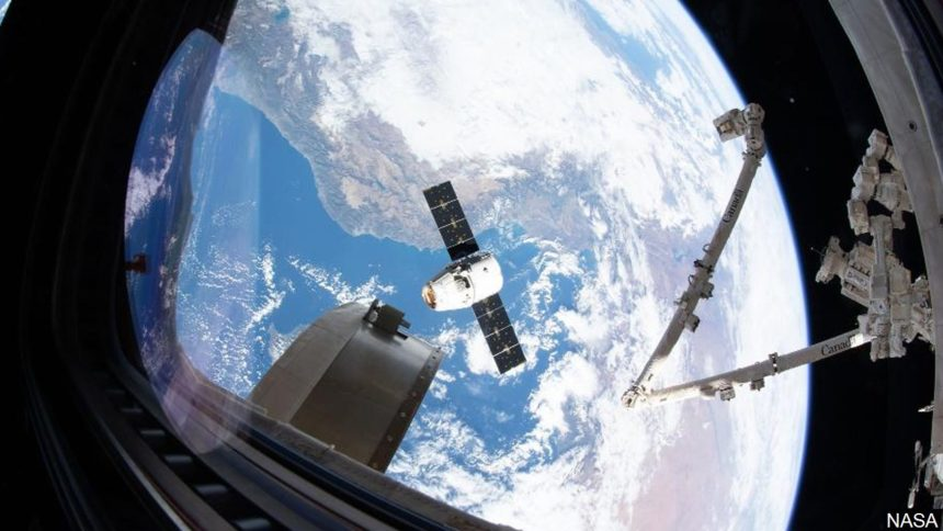 SpaceX docking at ISS