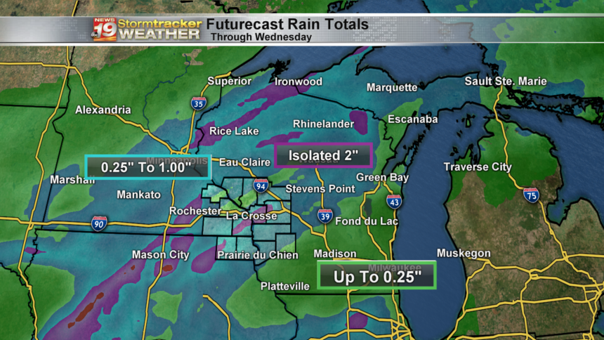 State - Futurecast Rain Accumulation - ECMWF 9km