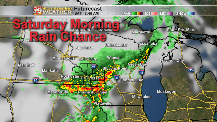 State 18 Hour -Futurecast Clouds and Precip With SPC Outlook