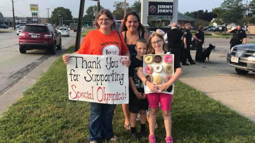 Raising money for the Special Olympics