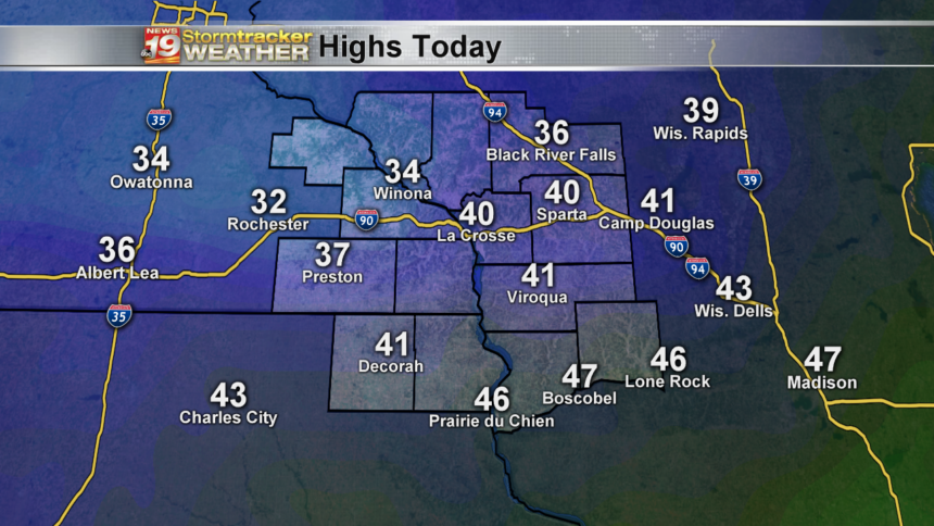 Highs Tuesday-10