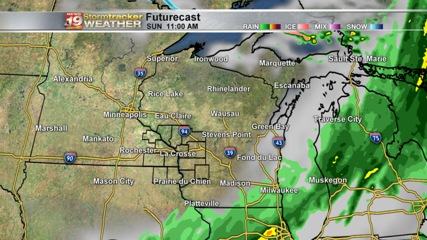 State 18 Hour -Futurecast Clouds and Precip - RPM 4km Dan(54)