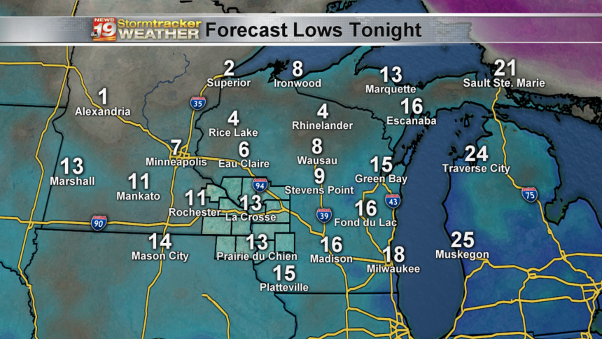 State - Forecast Lows Tonight
