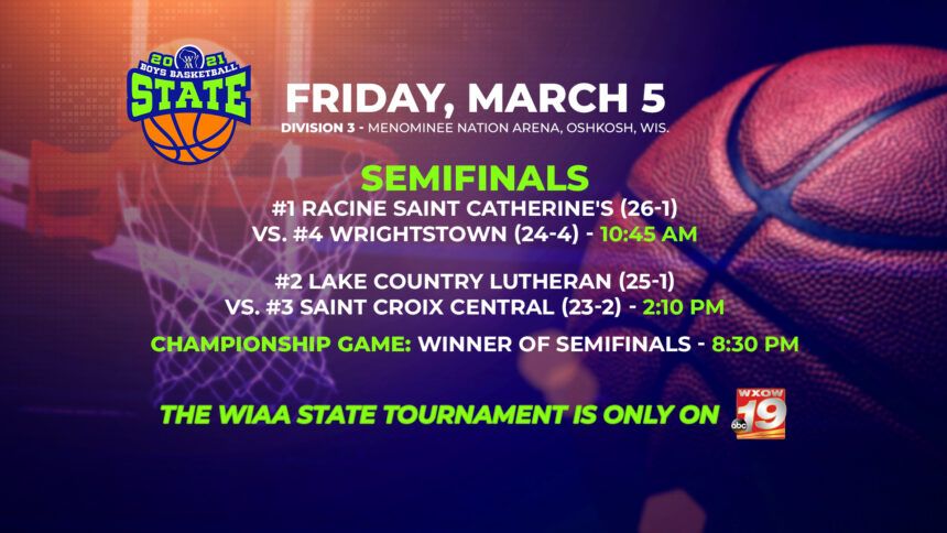 WIAA Boys Division 3 Schedule Revised