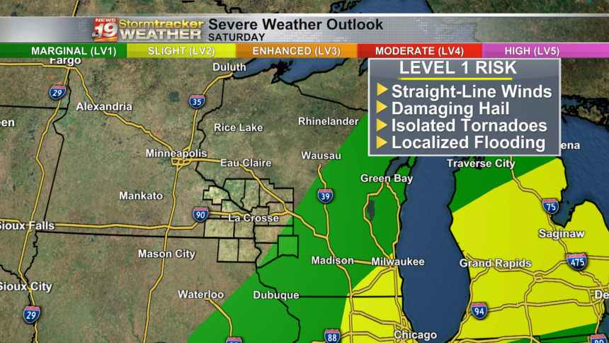 Severe Weather Outlook Saturday xo