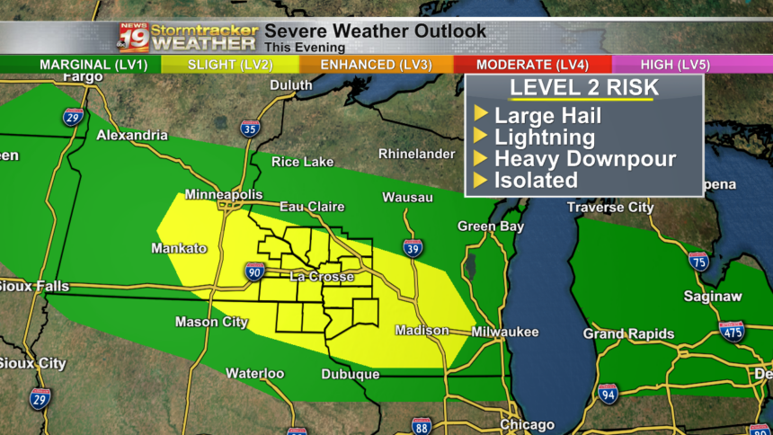 Severe Weather Outlook This Evening xo