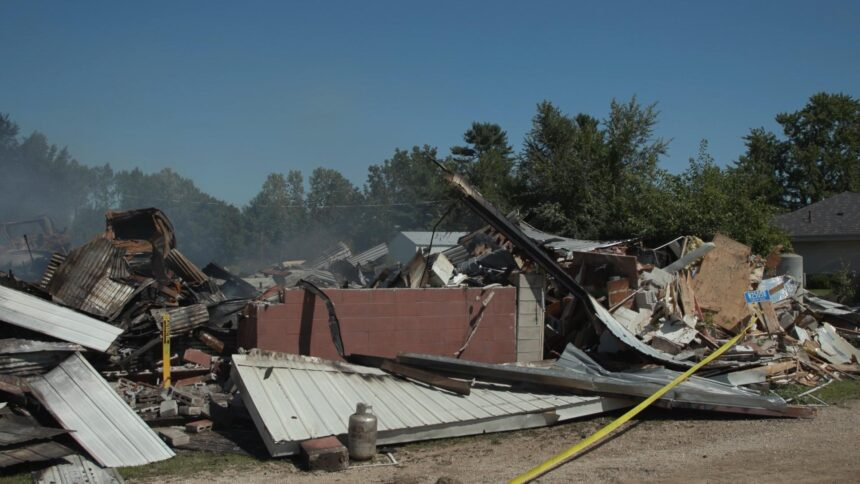 Building known as the 'Old Curling Club' in Centerville is a total loss after fire - WXOW.com