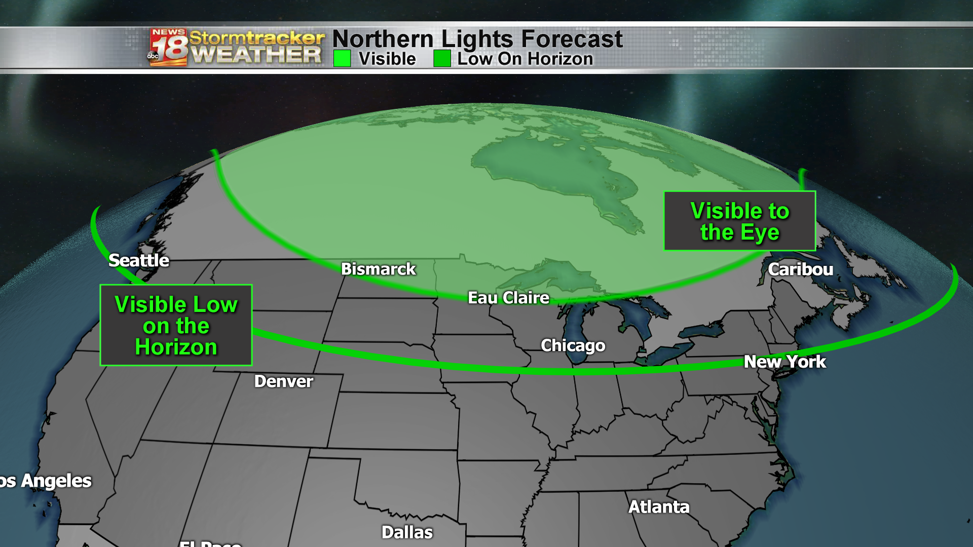 Image of: Northern Lights Possible Monday Night Weather Forecast Interferes