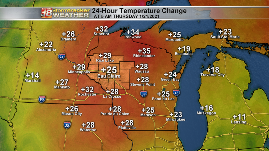 State - 24h Temperatures Change