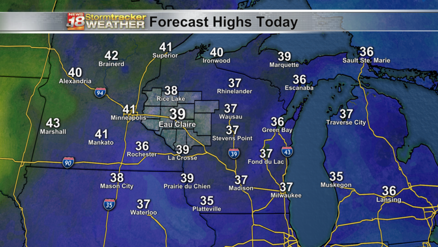 State - Forecast Highs Today