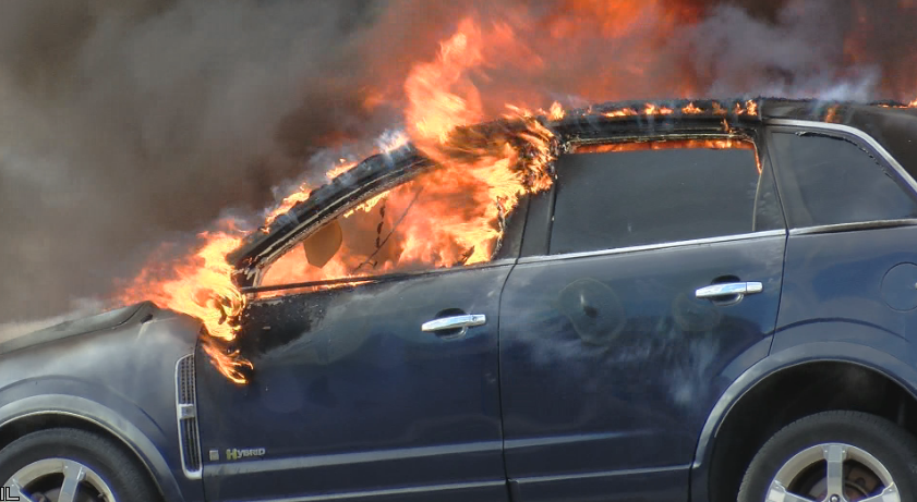 holiday car fire