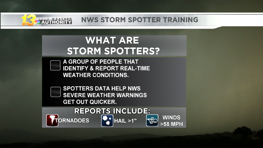 The National Weather Service Hosts Free Storm Spotter Training Courses