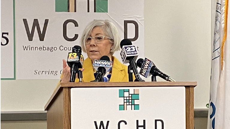 Dr. Sandra Martell Speaking During a Press Conference on Oct. 15