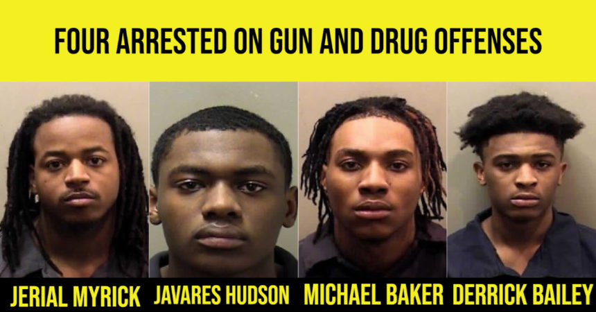 Four arrested