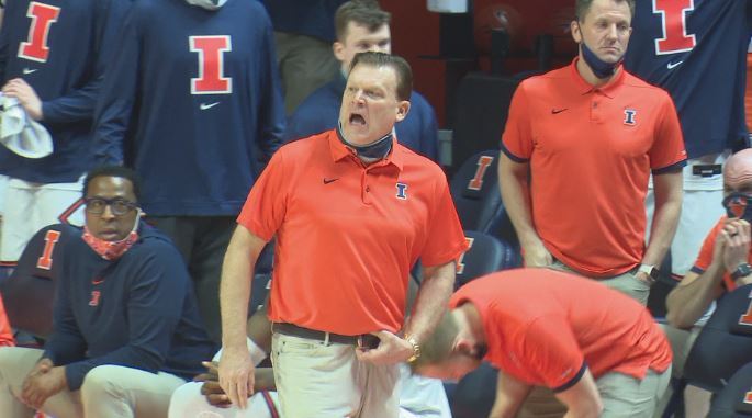 Brad Underwood during Ohio State loss