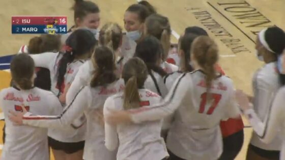 Illinois State Volleyball beats Marquette