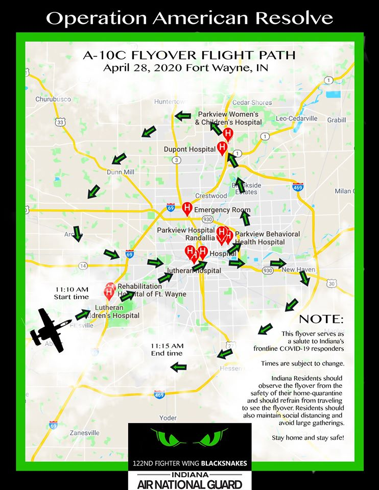 122ND FLY OVER APRIL 28