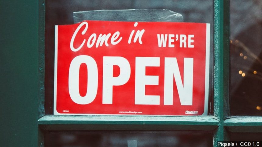 COME IN WE'RE OPEN SIGN GENERIC