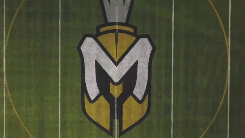 Manchester logo football field