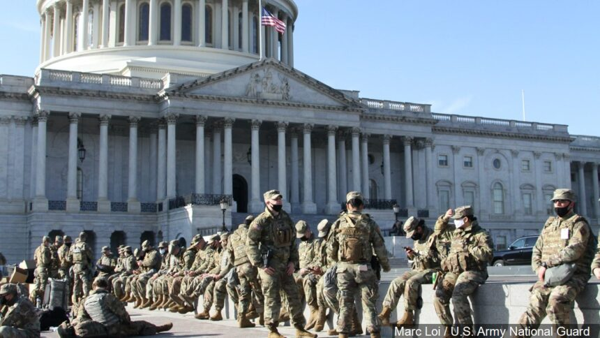 National Guard Soldiers at Capitol 2021