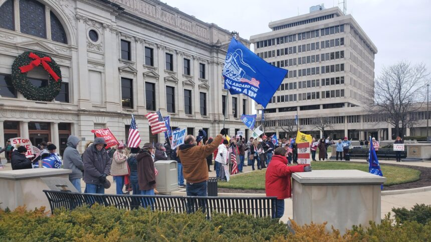 Trump rally allen county courthouse 1 2021