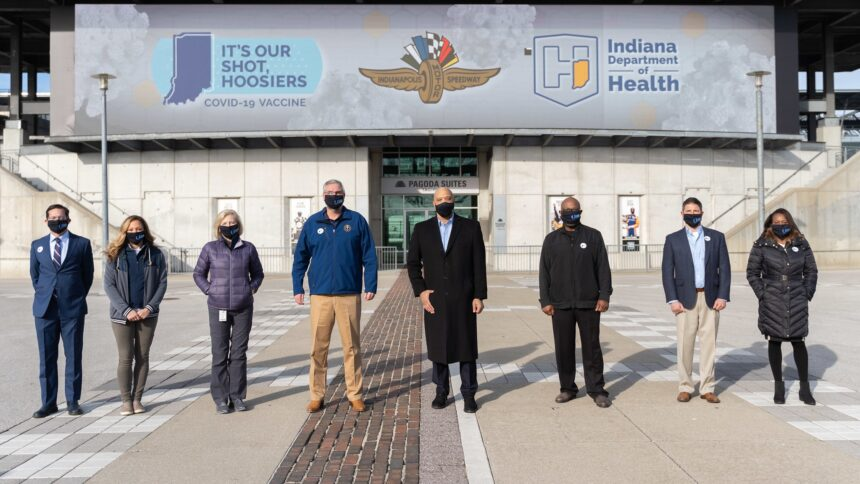 Indianapolis Motor Speedway vaccine clinic 2021