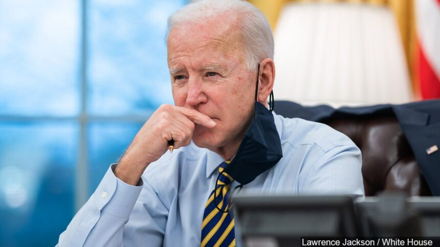 JOE BIDEN AT DESK