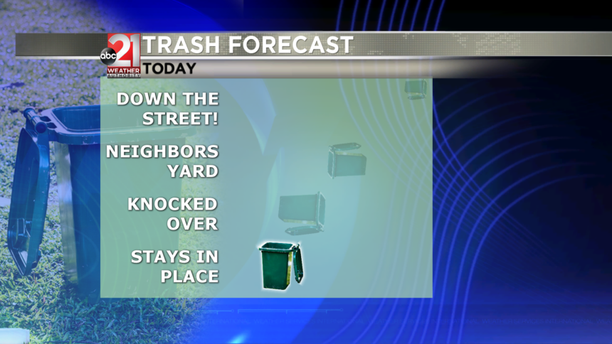 Winds vs Trash Cans