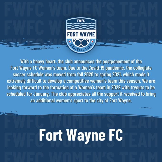 No women's soccer this year