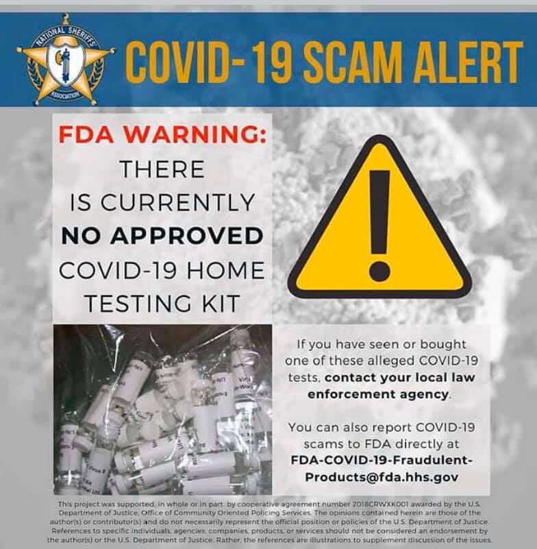 COVID-19 scam: 'Stay alert and stay informed'