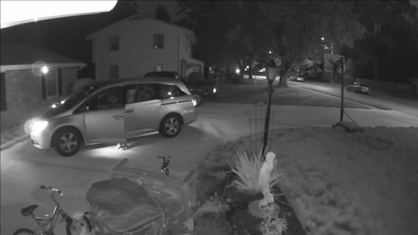 Fort Wayne woman's surveillance camera captures man going through her vehicle twice in months