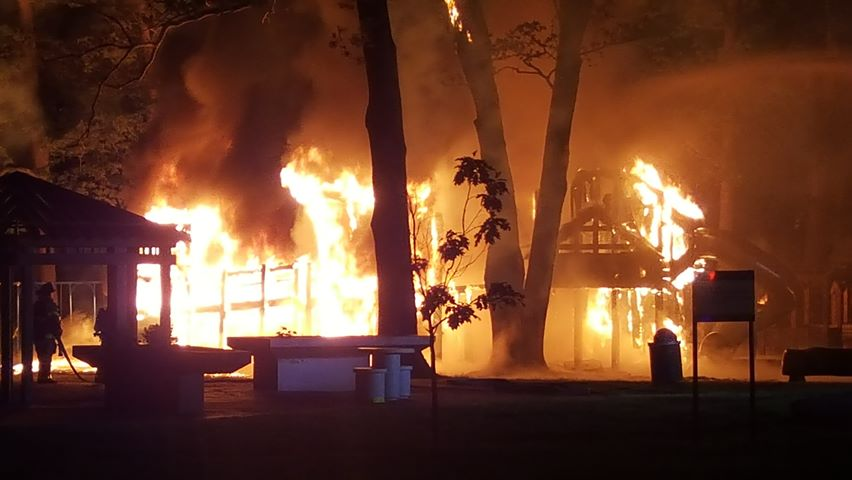 Fire departments respond to fire at Recreation Park in Binghamton