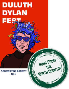 Duluth Dylan Fest's Song From the North County Songwriter Contest Logo 2021