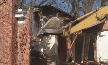 Williams house demolition in October of 2012