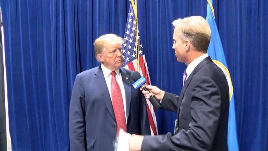 President Trump and Tom Overlie