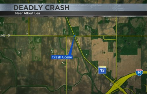 Map of crash scene