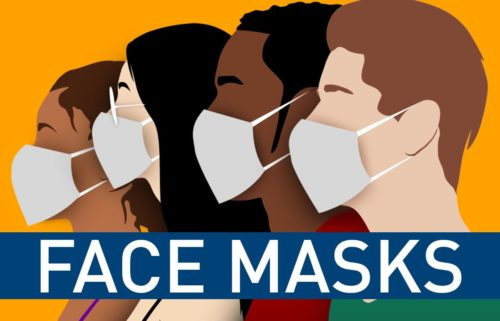 Face masks graphic