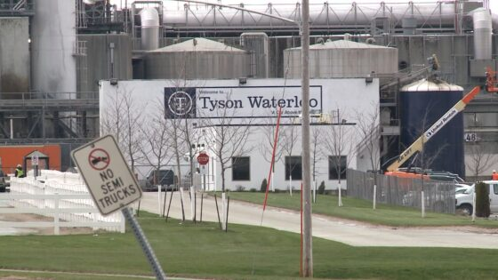 Tyson pork processing plant in Waterloo, Iowa