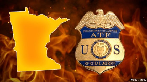 Minnesota map with ATF and fire