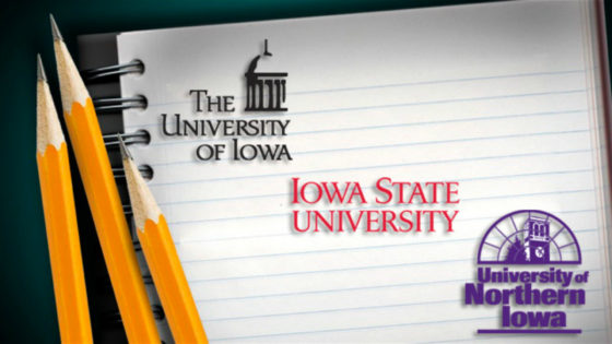 Logos of Iowa public universities