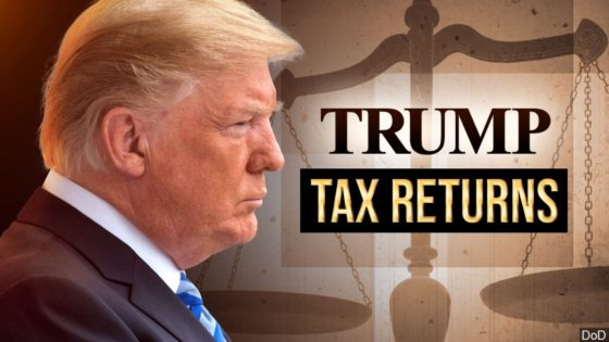 Trump tax returns graphic