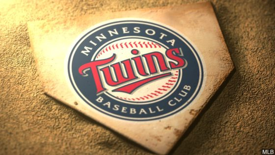 Minnesota Twins logo on home plate