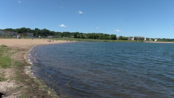Cascade lake beach in Rochester