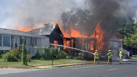 Firefighters battling house fire in Dakota, Minn.