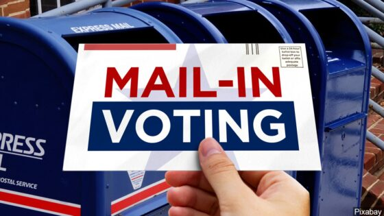 Mail-In Voting graphic